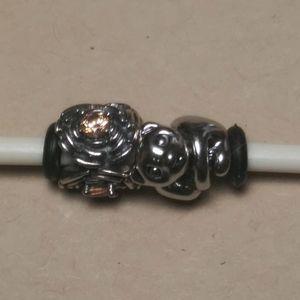 2 Pandora compatable SS charms